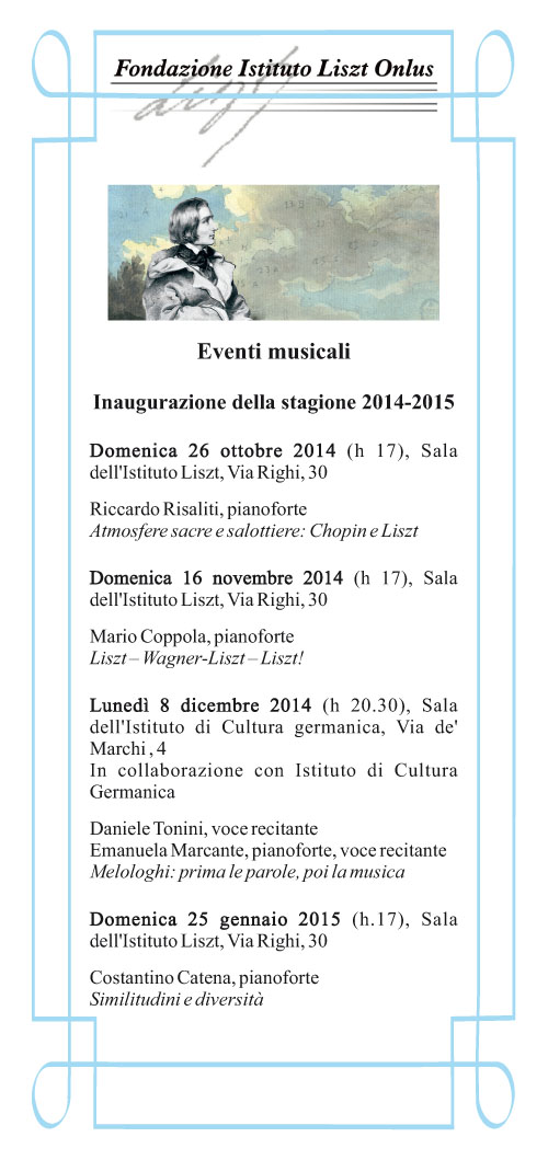 LISZT - stagione musicale 2014/2015