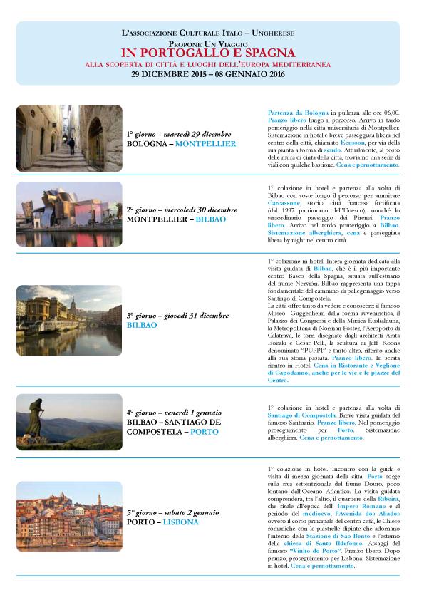 ACIUER viaggio Portogallo Spagna 29 dic 2015 - 08 gennaio 2016