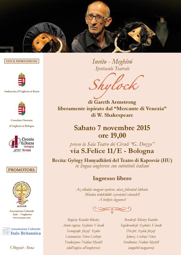 Aciuer invito Shylock 7 nov 2015