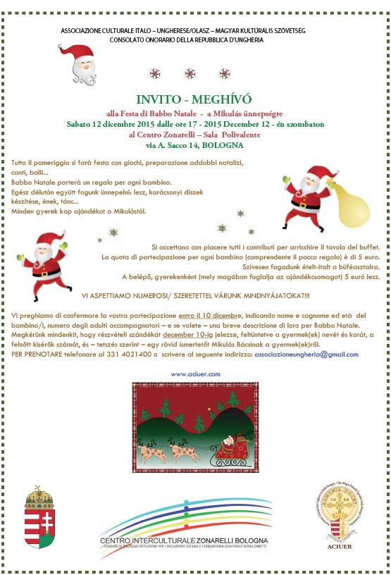 Invito Festa Babbo Natale 2015