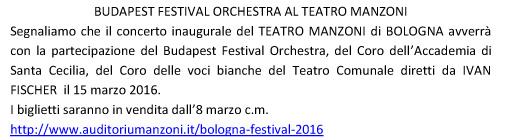 BUDAPEST FESTIVAL ORCHESTRA AL TEATRO MANZONI
