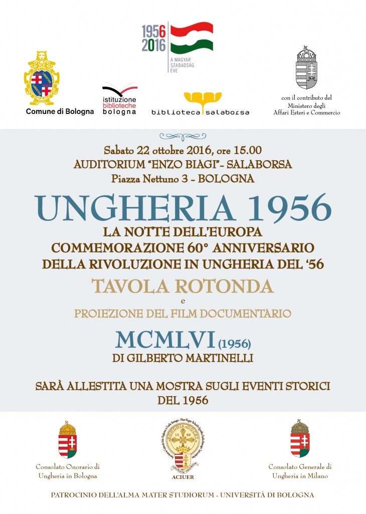 UNGHERIA 1956 - COMMEMORAZIONE DEL 60° ANNIVERSARIO DELLA RIVOLUZIONE