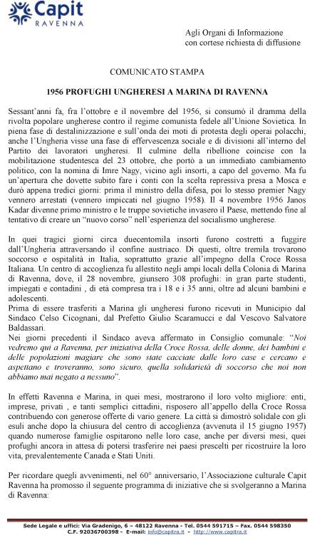 1956 PROFUGHI UNGHERESI A MARINA DI RAVENNA