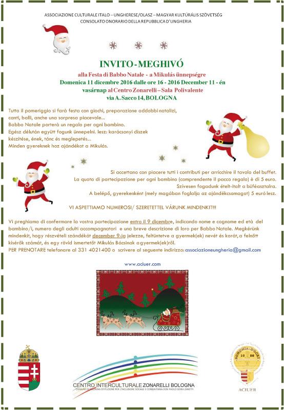 Invito Festa Babbo Natale 2016
