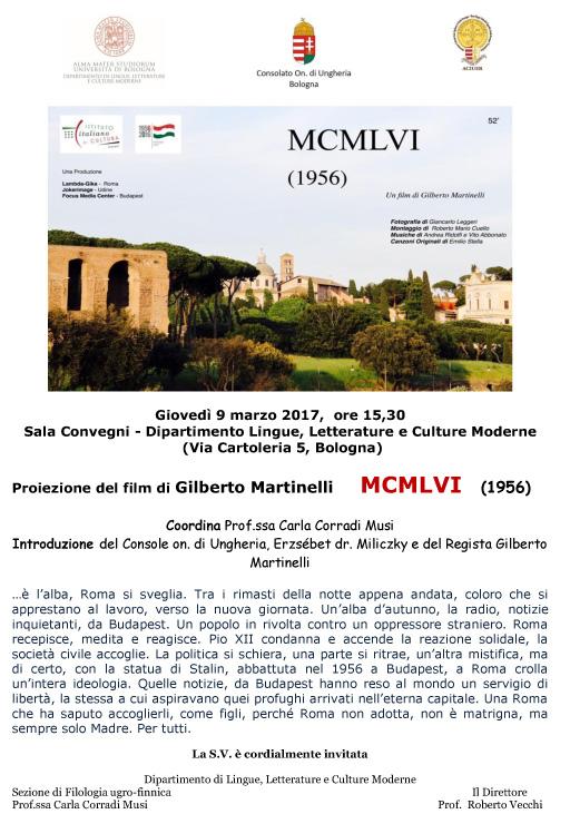BOLOGNA - FILM di G. MARTINELLI sul 56
