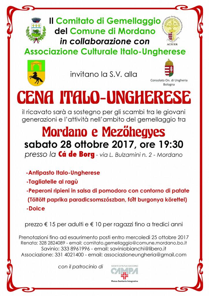CENA ITALO-UNGHERESE A MORDANO