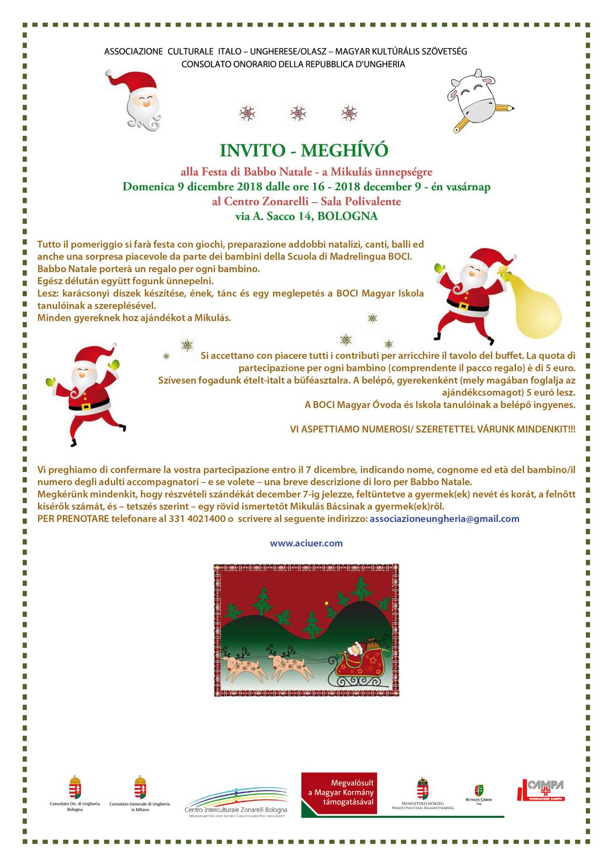 invito Babbo Natale 2018