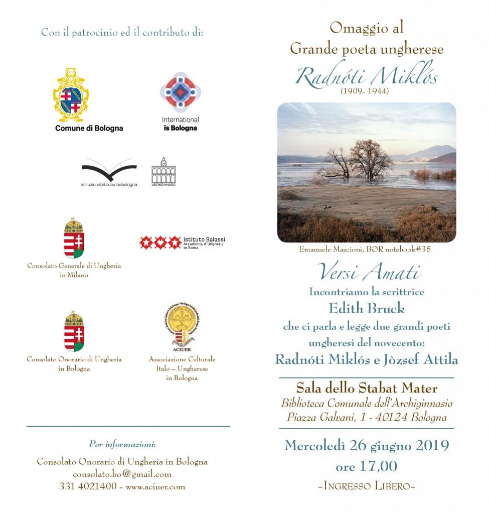 Aciuer invito Radnoti 26 giugno 2019