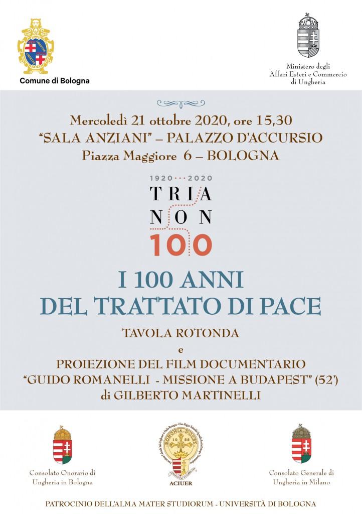 I 100 ANNI DEL TRATTATO DI PACE