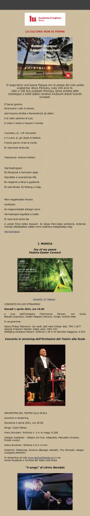 Buona Pasqua - Húsvét 2021